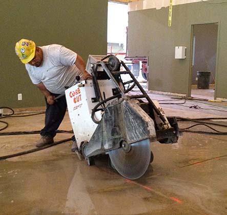 Floor Saw Cutting